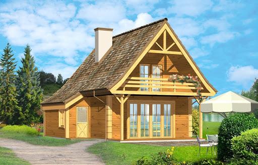 projekt Chatka drewniana