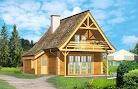 projekt domu Chatka drewniana
