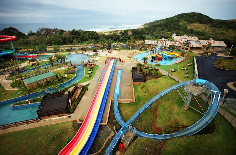 A bird's-eye view of the Wild Waves Water Park at the Wild Coast Sun. Picture: Marianne Schwankhart/Sunday Times.