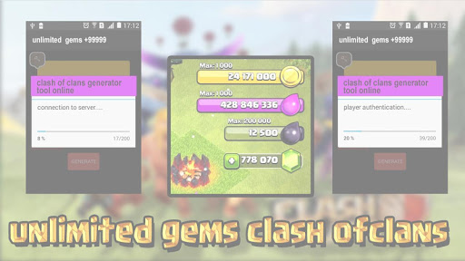 Gems for Clash of Clans prank for PC