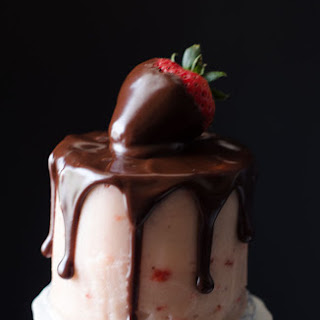Mini Chocolate Covered Strawberry Layer Cakes for Two