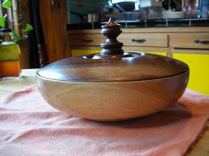 "Photo: Myrtle Wood, Black Walnut and Redwood Burl 13"" x 6"" Sold"