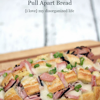Ham and Swiss Pull Apart Bread for Two
