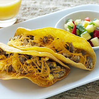 Bison Breakfast Tacos with Pineapple Salsa
