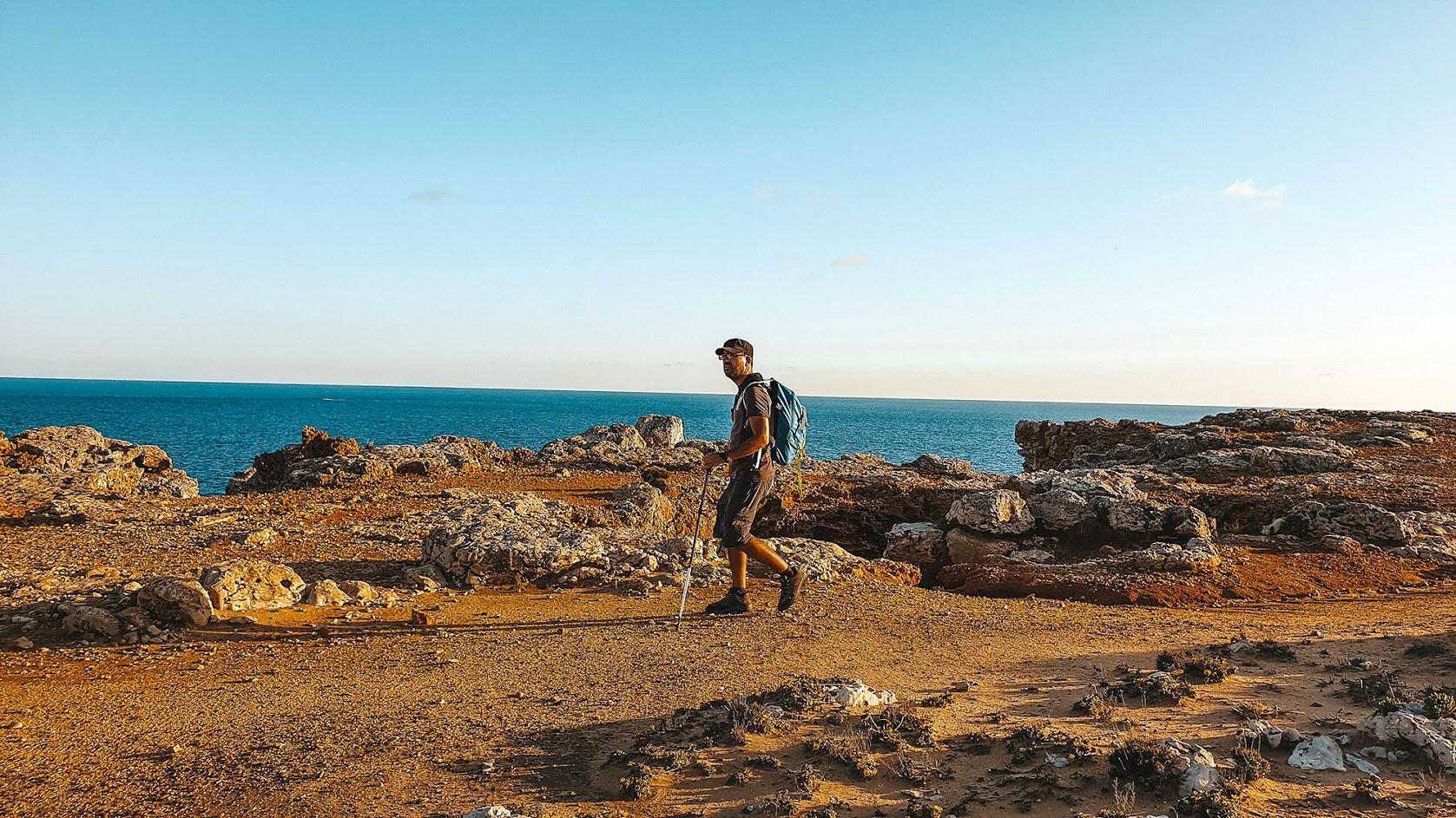 TRILHO DO CABO DE SÃO VICENTE A SAGRES (Trilho dos Pescadores), um dos mais belos para apreciar o fim da tarde na Costa Vicentina