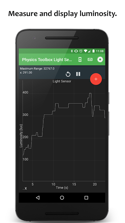 Physics Toolbox Light Meter- screenshot