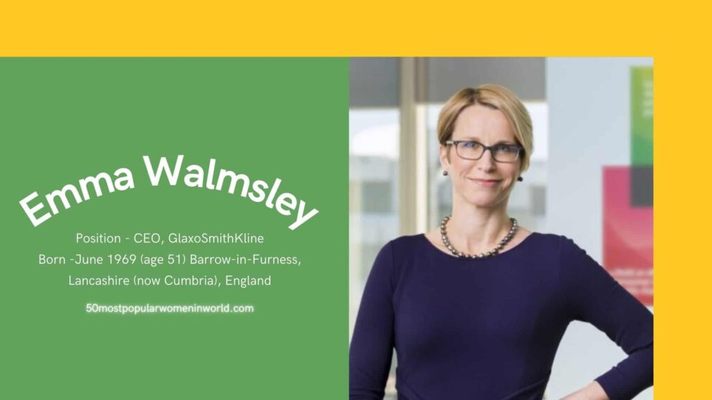 Emma Walmsley inculded in 50 most famous women