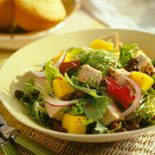Caribbean Pork and Mango Salad.