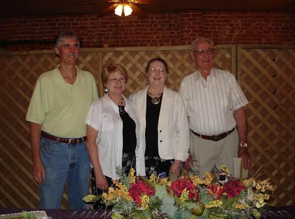 Randy, Ellen, Omega, Granddaddy.  Granddaddy's 90th Birthday Party At The Hamilton Warehouse In Dubach.