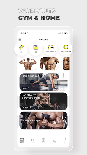 Fitness: Workout for Gym|Home  screenshots 1