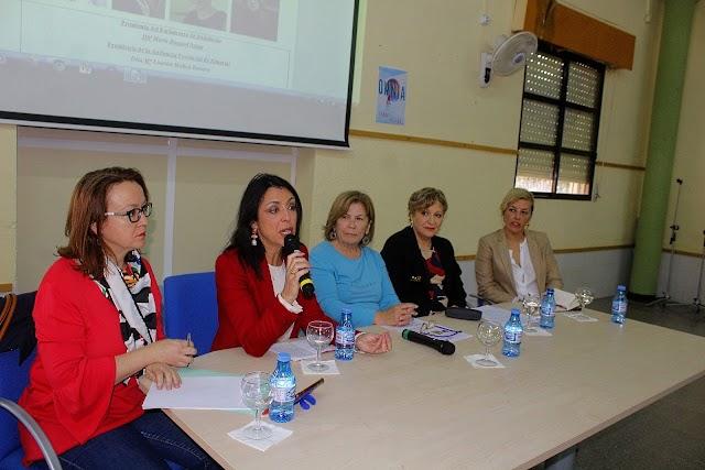 Celebración del Día Internacional de la Mujer el pasado año en el IES Aguadulce.