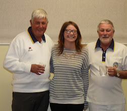 Photo: Men's Pairs- Runners up- Bob King and Colin Francis (Happy Lucy!)