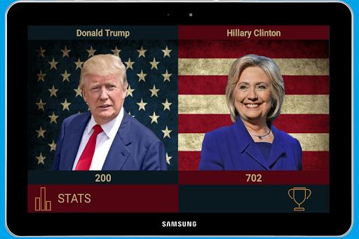 Trump vs Clinton screenshot