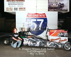 Photo: Jr. Dragster Winner 5-18-13