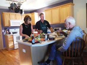 Photo: Day 20 Casper, Jim and Debbie preparing dinner
