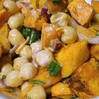 Warm Sweet Potato & Chickpea Salad
