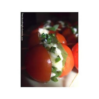 Tomato and Mozzarella Skewers.