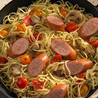 Smoked Sausage and Spaghetti Skillet Dinner