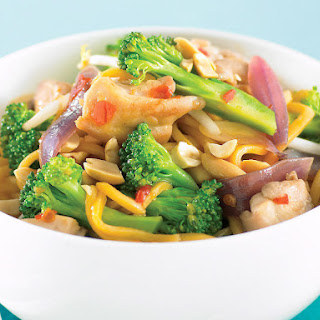 Stir-Fried Chicken with Broccoli and Hokkien Noodles.