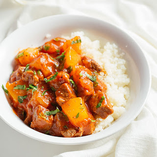 Paleo Beef Tagine with Squash and Cauliflower Rice