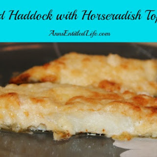 Baked Haddock with Horseradish Topping Recipe