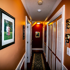 The Hallway by Ed Stines - Buildings & Architecture Other Interior ( doors, corridor, walls, hallway, carpet runner, wall art, lights, home, interior )