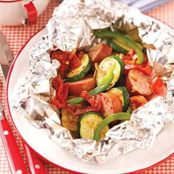 Sausage Vegetable Packets Recipe