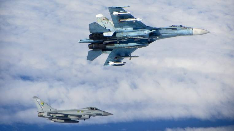 RAF Typhoons intercept Russian aircraft