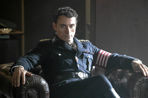 Rufus Sewell as  a ruthless Nazi officer in 'The Man in the High Castle', a series in which the allies lose World War 2.