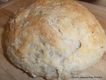Rustic Herb Bread (No Kneading)