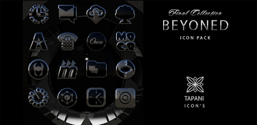 Beyond black platin icon pack HD 3D Apps for Android screenshot