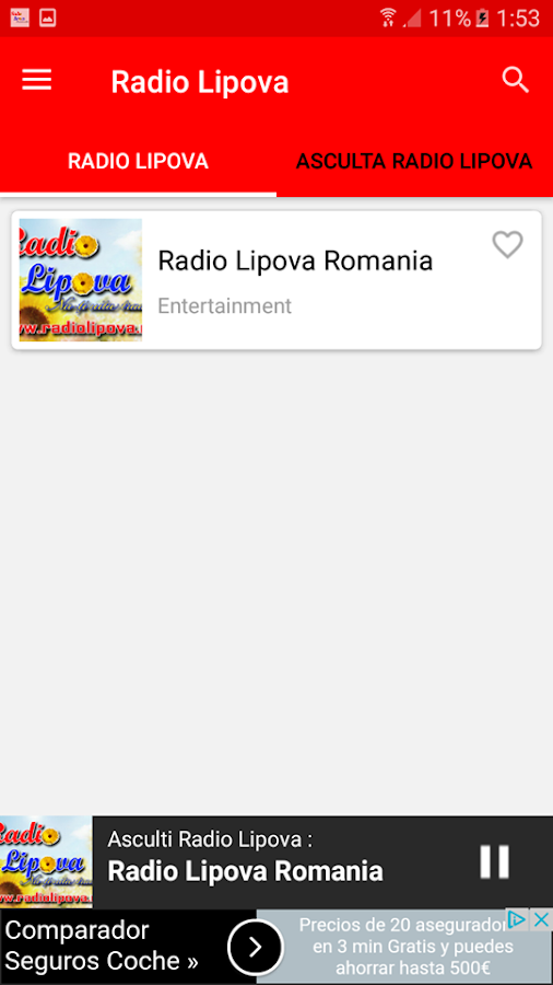 Radio Lipova- screenshot
