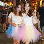 Chinese girls in halloween costumes at LKF, Hong Kong in Hong Kong, , Hong Kong SAR