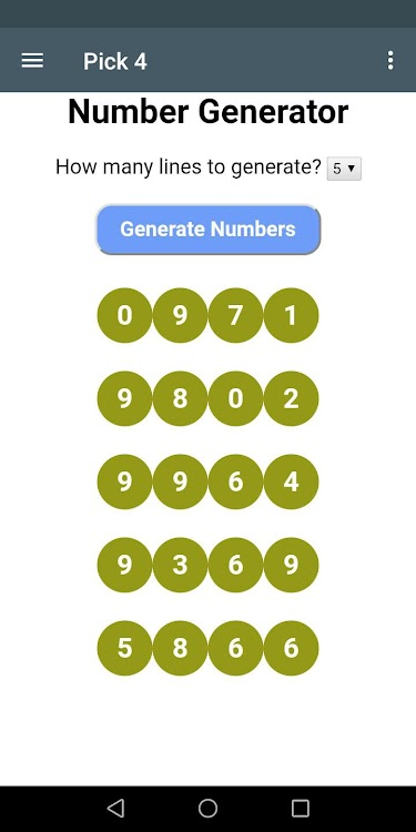 Ohio Lottery Number Generator and reduced systems – (Android