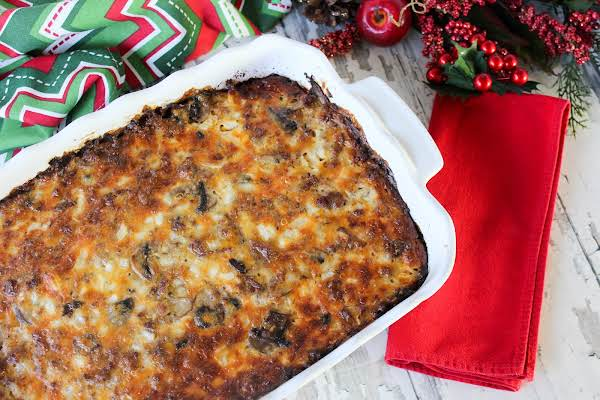 Christmas Morning Casserole Out Of The Oven.