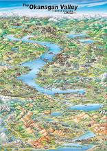 Photo: Map of the Okanagan Valley, British Columbia fo Okanagan Map Guides 2004.