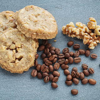 Coffee And Walnut Biscuits.