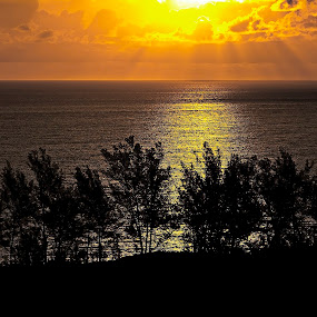 sun over the Bahamas  by Brook Kornegay - Landscapes Waterscapes ( water, ocean, sun,  )