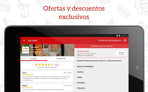 JUST EAT - Comida a domicilio screenshot 07