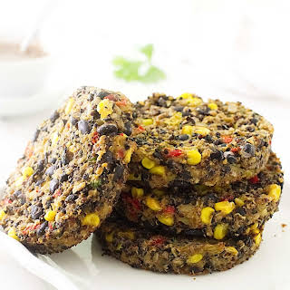 Southwestern Quinoa-black Bean Breakfast Burger.