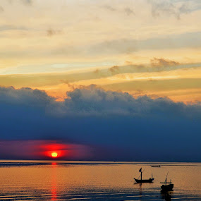 Sunrise at Kenji Beach, Surabaya, Indonesia by Curly Yanni - Landscapes Sunsets & Sunrises