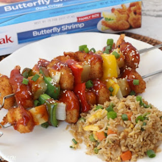 Sweet And Sour Shrimp Skewers.