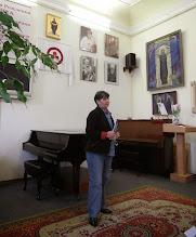 Photo: Е.Г.Петренко открывает фотовыставку Веры Едидья в Доме - Музее имени Н.К.Рериха