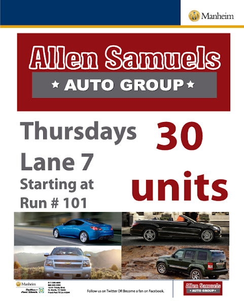 Photo: Allen Samuels Auto Group Thursdays in Lane 7 starting at #101 with 30 units