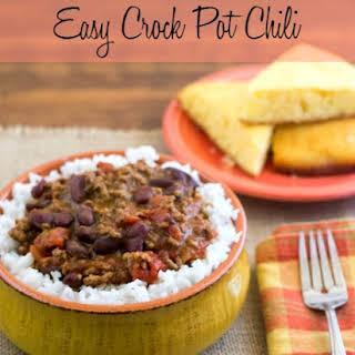 Easy Crock Pot Chili.