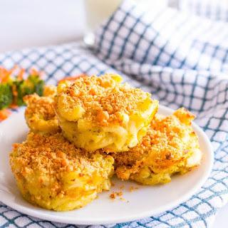 Veggie Mac And Cheese Muffins.