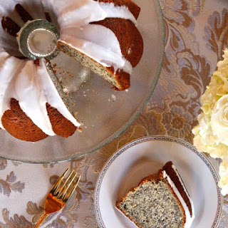 Lemon Poppy Seed Cake with Lemon Glaze.