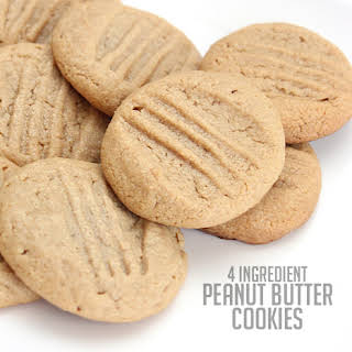 4 Ingredient Peanut Butter Cookies.