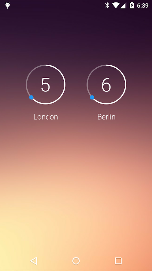 onca Clock Widget- screenshot