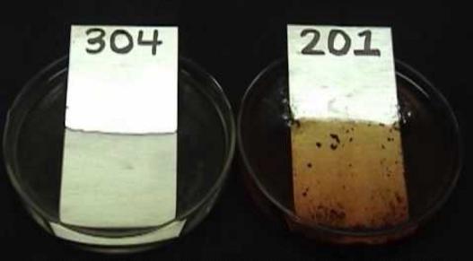 Kết quả hình ảnh cho dùng axit thử inox